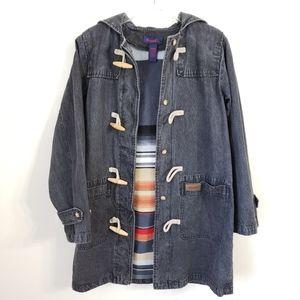 Denim & Co.   Hooded Toggle Jacket
